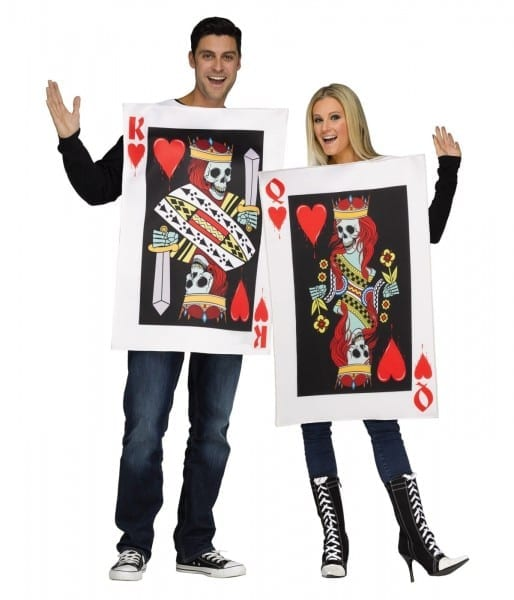 King And Queen Of Skeleton Hearts Couples Costume