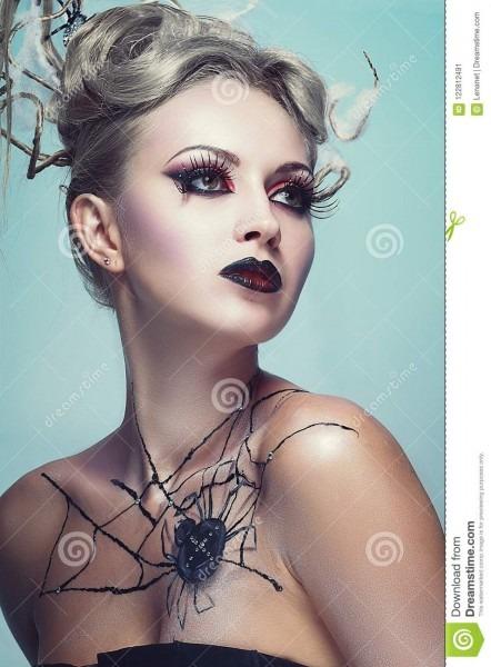 Spider Queen Black Veil Widow Stock Image