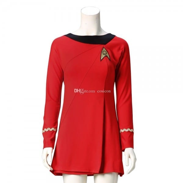Star Trek Costumes Cosplay Star Trek Female Duty Uniform Red Dress