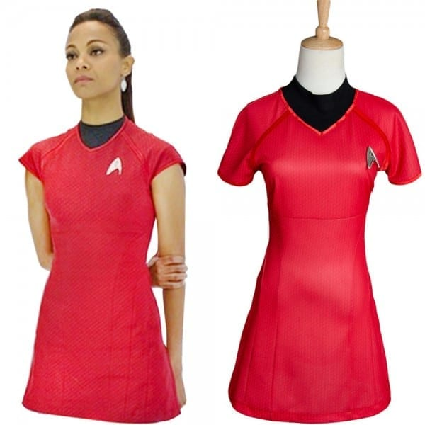 Star Trek Into Darkness For Women Badge Red Shirt Uniform Cosplay