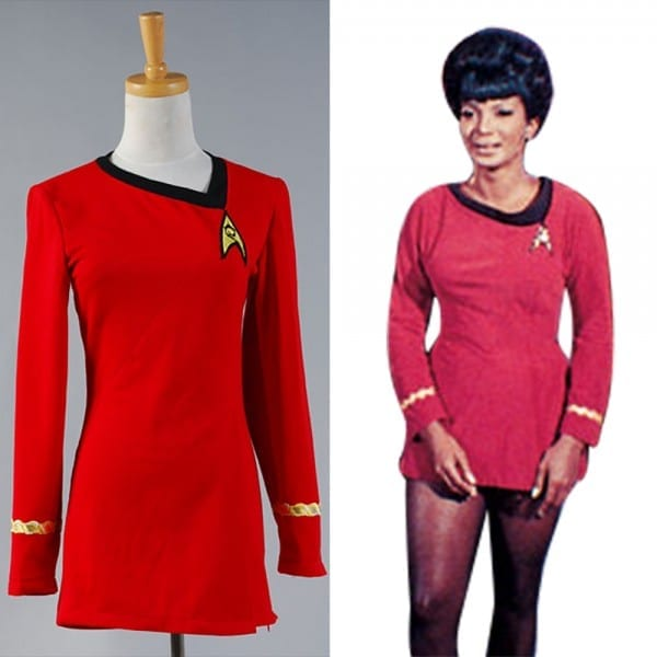 Star Trek Tos Engineering Uniform Costume Shirt Halloween Carnival