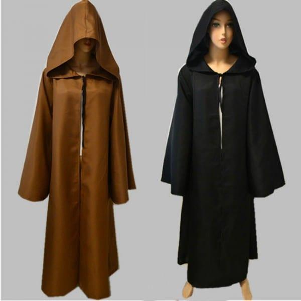 Star Wars Fancy Jedi Cloak Cosplay Costumes Adult Men Hooded Robe