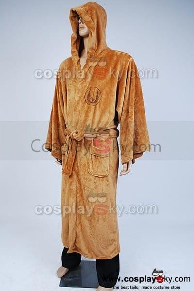 Star Wars Jedi Hooded Bathrobe Fleece Bath Robe Costume