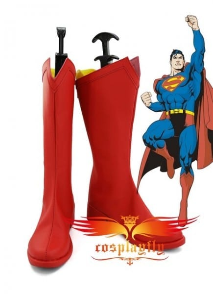 Superman Superwoman Hero Cosplay Shoes Boots For Adult Costume