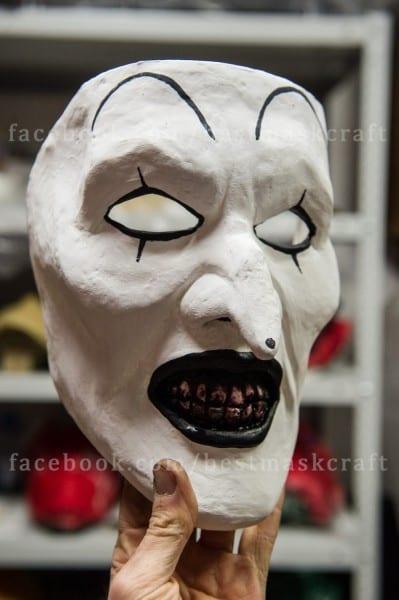 The Horrors Of Halloween  Art The Clown Makeup And Mask, Terrifier