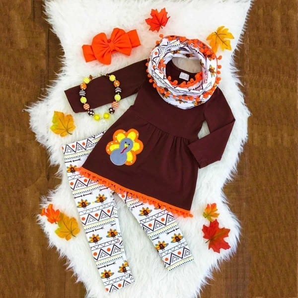 Thanksgiving Day Kids Baby Girlsclothes T
