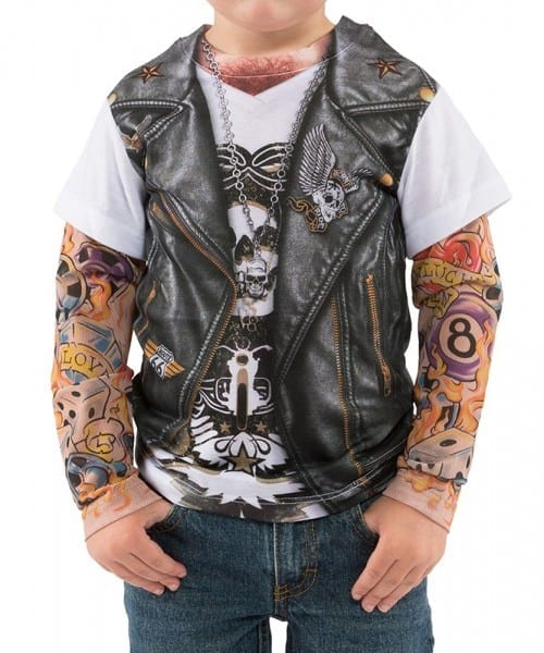 Toddler Tattooed Biker Costume T