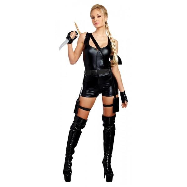 Tomb Raider Costume Adult Lara Croft Halloween Fancy Dress