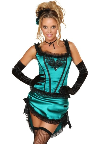 Sexy Saloon Girl Costume For Adults