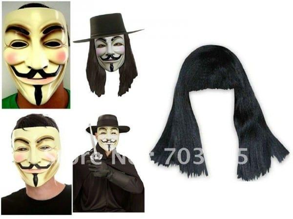 V For Vendetta Mask And Wig