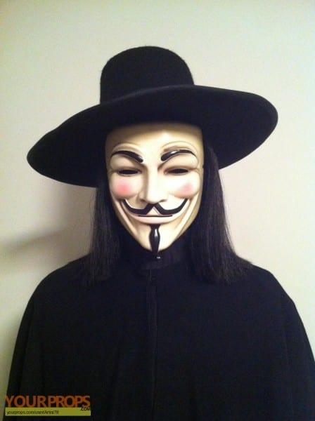 V For Vendetta Original  V For Vendetta  Mask, Hat+wig, And Cape