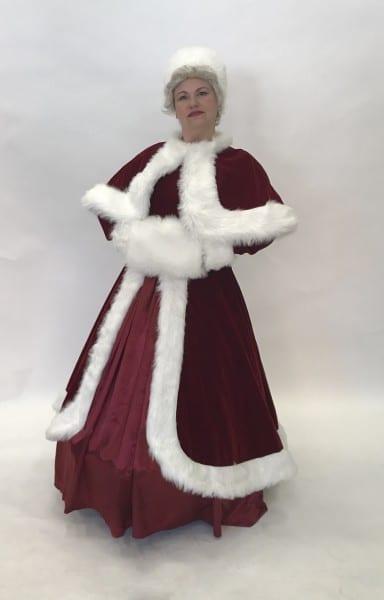 White Christmas Velvet Mrs Claus Outfit