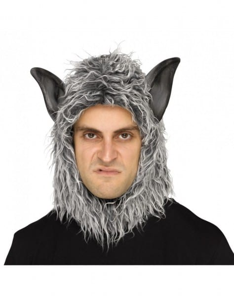 Werewolf Big Bad Wolf Beast Hood Halloween Fancy Dress Costume