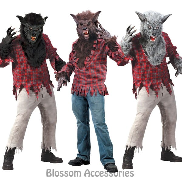 Cl132 Werewolf Halloween Costume Big Bad Wolf Man Animal Monster