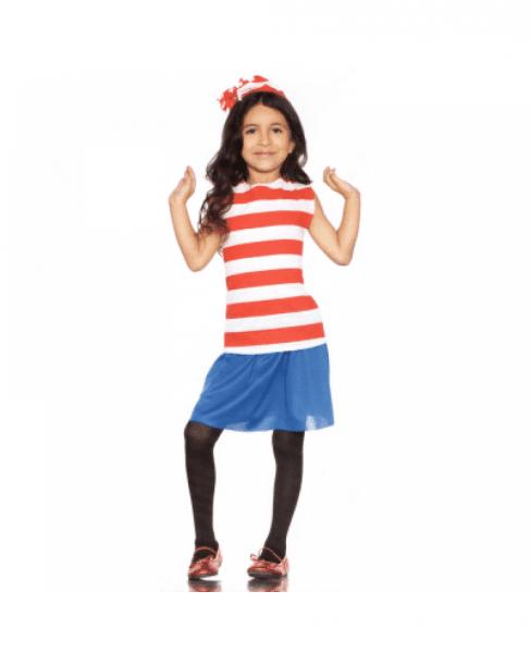 Where's Waldo Girls Child Costume