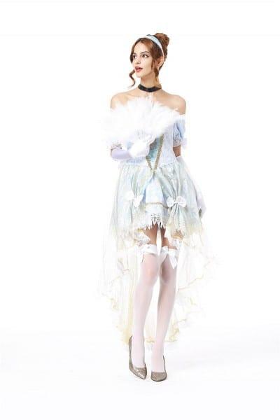 White Snow Costume Cinderella Princess Dress Women Halloween Ideas