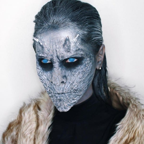 Halloween White Walker Makeup Tutorial With These Easy Steps