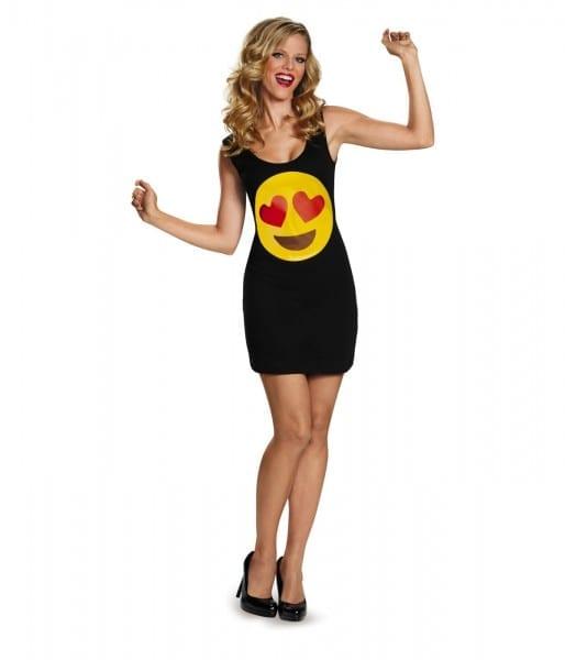 Love Heart Eyes Emoticon Womens Tank Dress Costume
