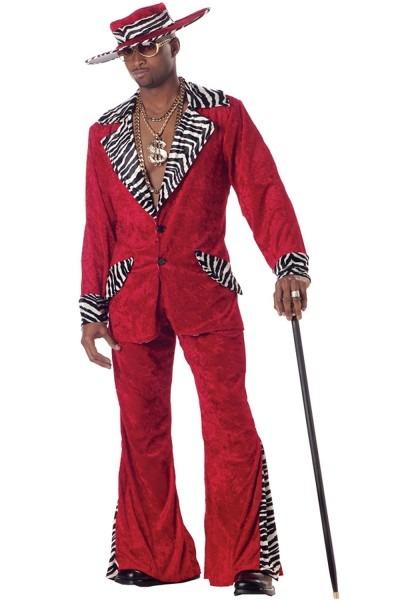 California Costumes Mens Pimp Red Large Costume