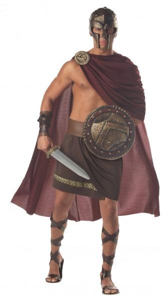 Halloween Costume Mens Gladiator Greek Warrior Roman Cape Spartan