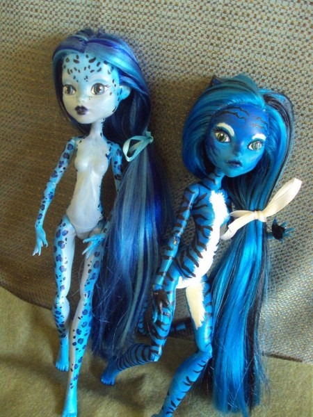 Monster High Leopard And Tiger Blue By Phoenixwingcreations On
