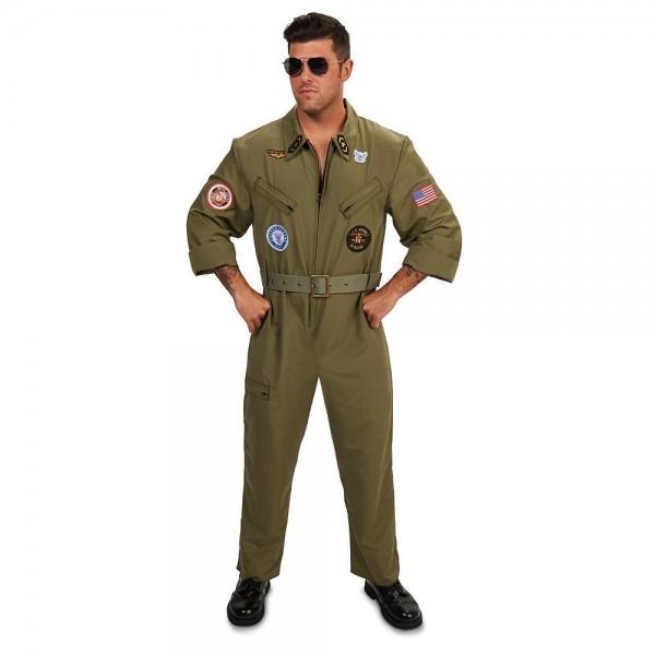 Adult Fighter Pilot Jumpsuit Costume, Men's, Size  Medium