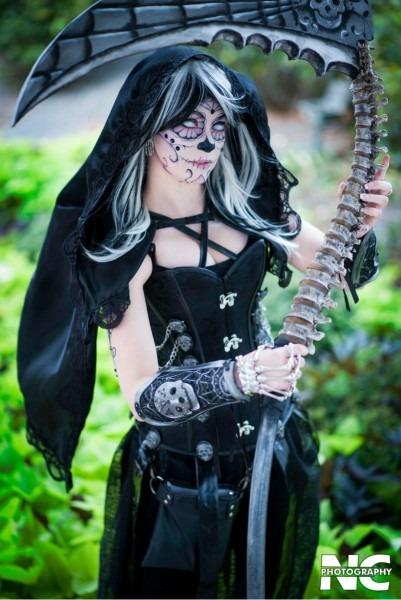 Sugar Skull Grim Reaper Female Halloween Costume