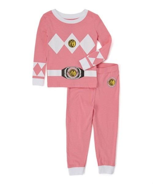 Power Rangers 'mighty Morphin Pink Ranger' Cotton Costume Pajama