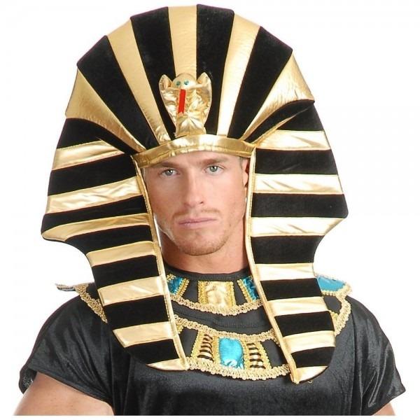 Egyptian Headpiece King Tut Pharaoh Sphinx Hat Costume Accessory