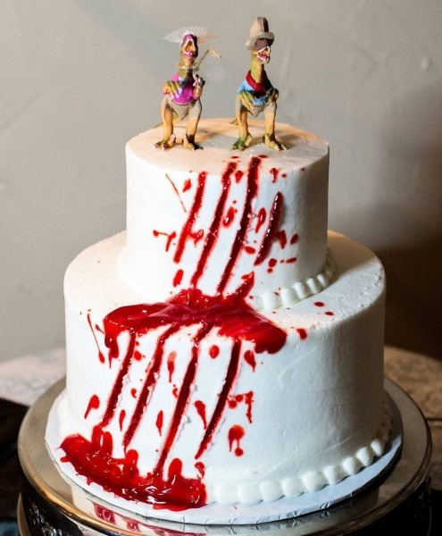 Favorite Cake Of All Time!! Jurassic Park Themed Wedding Rehearsal