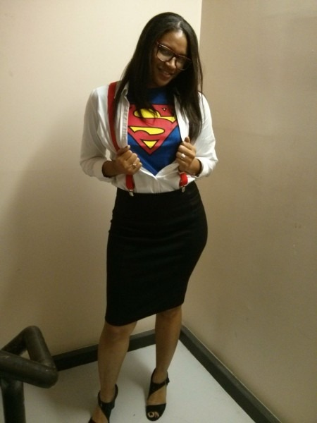 Super Woman Incognito  Easy Halloween Costume That Is Work