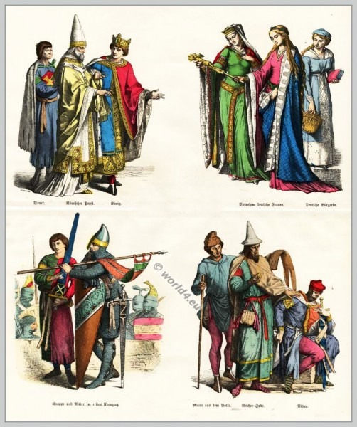 Middle Ages Fashion History In Germany