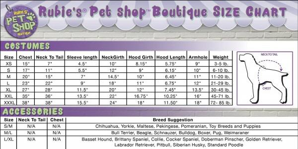 Rubie's Costume Company Dapper Dog & Cat Costume, Large