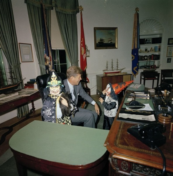 Flashback  Jfk's Children Modeled Halloween Costumes In The Oval