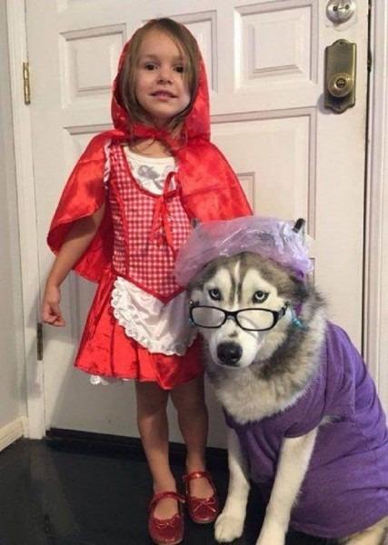 Halloween  Kids & Dog