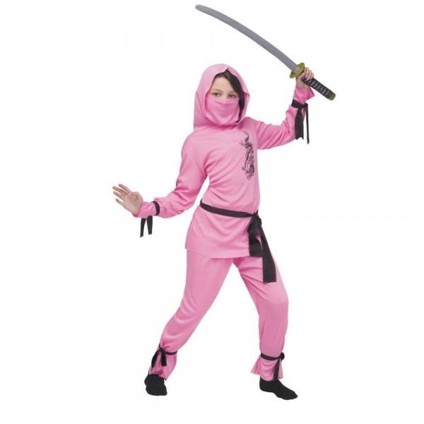 Girl's Pink Ninja Costume