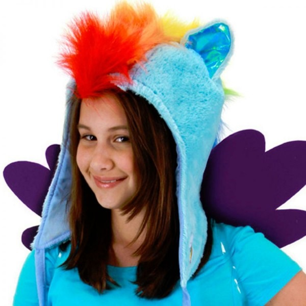 Hasbro My Little Pony Rainbow Dash Hoodie Hat Kids Novelty Hats