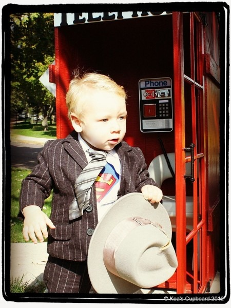 Diy Kid Superman Clark Kent Halloween Costume   Suit, Tie