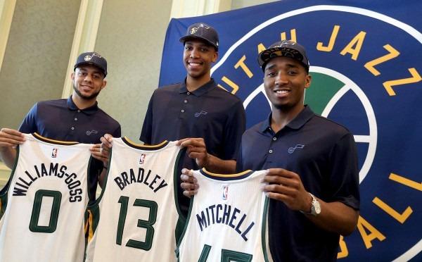 Jazz Rookies Mitchell, Bradley, Williams