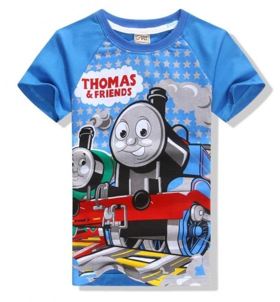 1 Pcs Lot Fashion Summer Boys T Shirts Thomas & Friends Cartoon