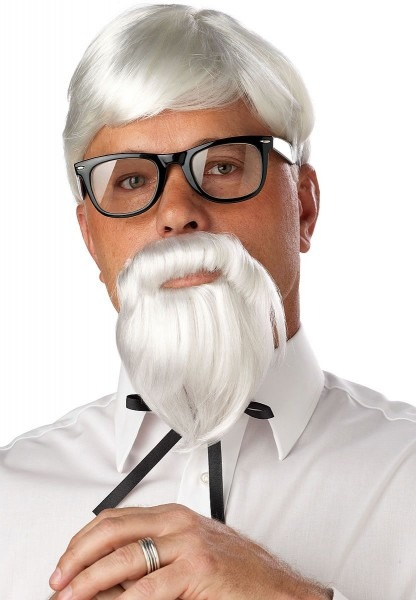 The Colonel Old Man Wig And Moustache