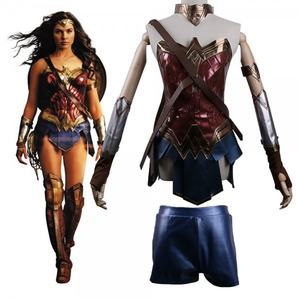 2017 Batman V Superman Dawn Of Justice League Wonder Woman Costume