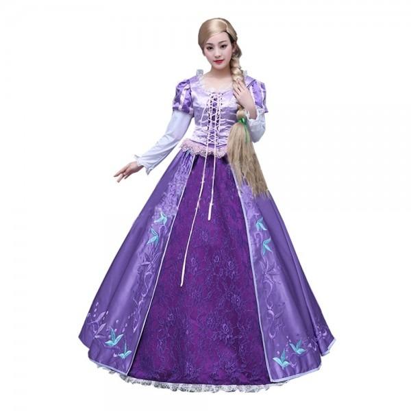 2017 Best Seller Adult Rapunzel Fancy Dress Anime Cosplay Costume
