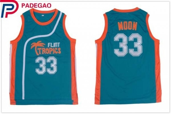 2018 Embroidery Stitched Mens Flint Tropics Movie Basketball