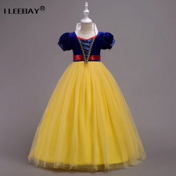 2018 Girls Snow White Dress Long Children Christmas Party Cosplay