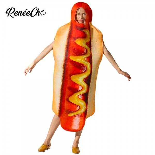 2018 Halloween Costumes For Women Adult Hot Dog Costume Lady
