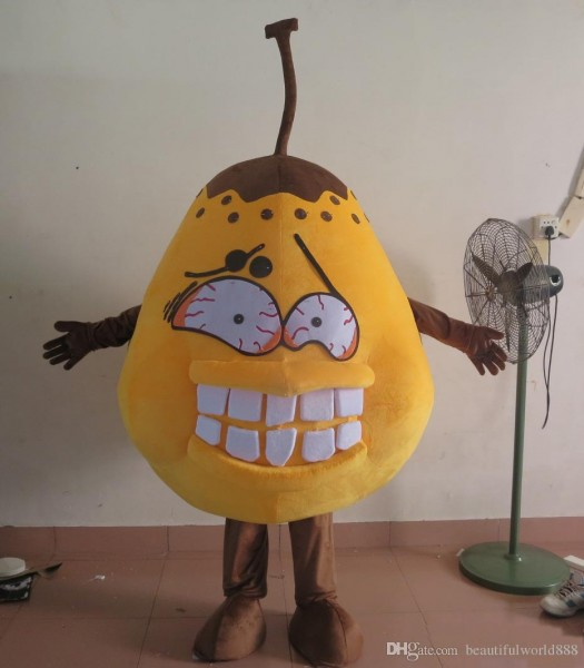 2018 High Quality Hot Of Bad Pear Costume Germs Bacteria Mascot