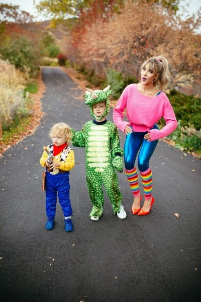 Toy Story Costume  Woody, Rex And Barbie