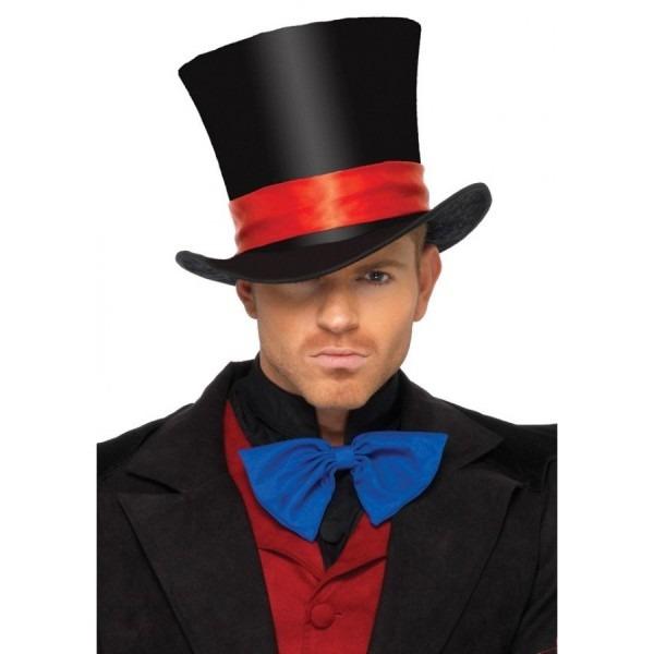 Mens Oversized Velvet Top Hat