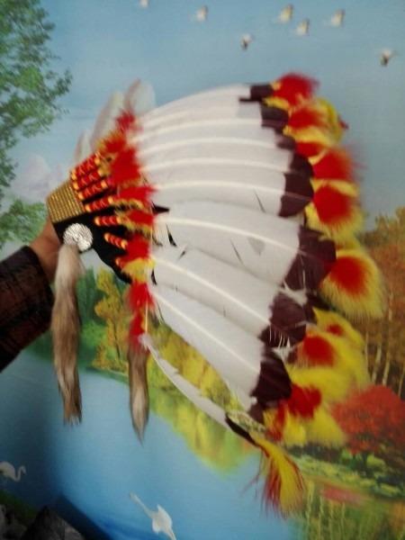 21 Inch Indian Headdress Feather Headdress American Costumes